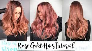 Rose Gold Hair Tutorial - YouTube