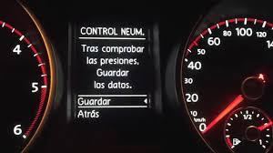 Reset Tpms Tyre Pressure Fis Vw Golf Vi