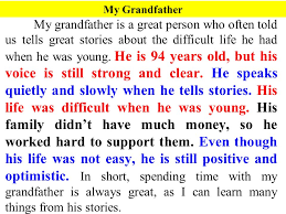 descriptive paragraph ppt video online  my grandfather