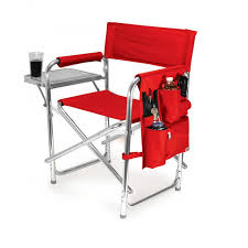 outdoor camping chair. Picnic Time Red Portable Folding Sports/Camping Chair Outdoor Camping