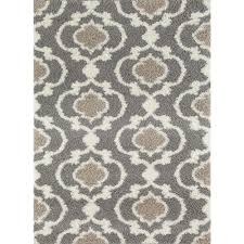 contemporary grey and cream area rug pertaining to world gallery cozy moroccan trellis gray 5 ft 3 in x 7