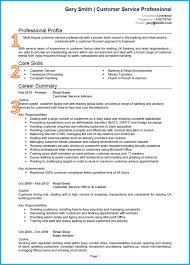 Customer Service Cv Example Written In Microsoft Word Check