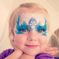 love this beautiful little frozen elsa face painting design kidfolio the app for pas kidfol