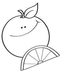 Small Picture Happy Orange Coloring Pages Fruits Coloring pages of
