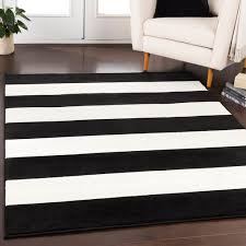 details about bowerbank stripe black white 2 x 3 area rug