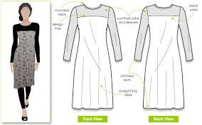 Simple Dress Pattern For Beginners Beauteous StyleArc Laura Knit Dress