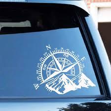 <b>Hot Sale Compass</b> and Mountains Adventure Car Sticker Wrap Vinyl ...