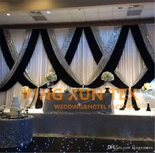 white and black 3m 6m wedding backdrop curtain stage background with silver sequin fabric for event decoration wedding backdrop wedding curtain wedding