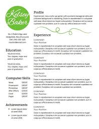 Great Resume Words Unique Resume Template The Baker Resume Design ...