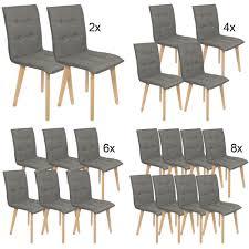 2 4 6 8 Set Stühle Esszimmer Holz Retro Design Auswahl