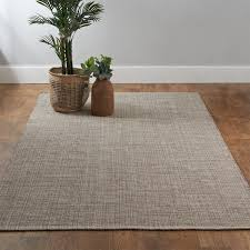 rare woven cotton rugs tri toned neutral rug shades of light