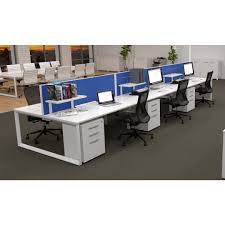 office workstations desks. Sixma-Double-Sided-Six-Desk-Workstation-Pedestals-Shelves Office Workstations Desks