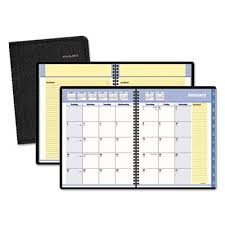 At A Glance 760805 Quicknotes Monthly Planner 6 7 8 X 8 3 4 Black