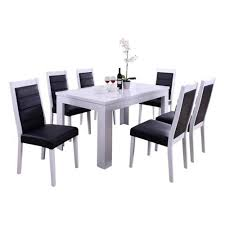 Oakland Living Indoor Black And White Modern 7 Piece Dining Set With