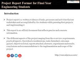 Format For Presentation Of Project Final Year Project Presentation Template Free Project Proposal