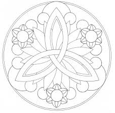 Free Printable Easy Mandala Coloring Pages Murderthestout