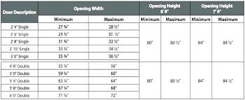 High Quality Standard Bedroom Door Size
