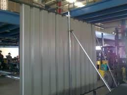 qrail qatar metro continous corrugated steel fencing for perimeter for