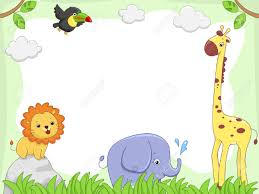 jungle animals border clipart. Fine Animals Baby Jungle Borders Clipart 1 And Animals Border N
