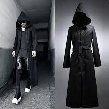 2018 new design men s gothic rock thick long hooded coat 2017 fashion slim men outerwear classic single ted cool trench coat from ziron