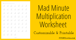 Free Mad Minute Math Multiplication Worksheets - Jokowi Life ...
