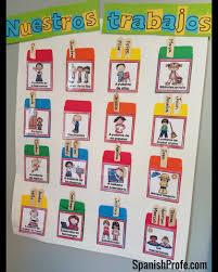 Classroom Jobs Chart Classroom Jobs In Spanish Spanish Profe