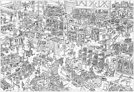 Complex Store Unclassifiable Adult Coloring Pages