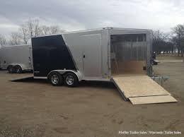 All trailers → powersport trailer → snowmobile trailer → in wisconsin. 2018 Sale 7x19 Stealth Apache Aluminum Snow Trailer W 6 Extra Height Sports Pkg Pfeiffer Deluxe Pkg 7 X 19 69907 Pfeiffer Trailer Sales In Bristol Wi Wisconsin