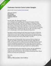 Cover Letter For Customer Service Representative Call Center Resume Best Customer Service Representative Cover Letter