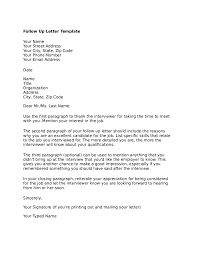 Sample Follow Up Letter To Employer After Interview Cover Letter