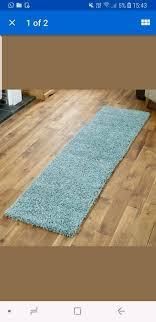 duck egg blue runner mat rug