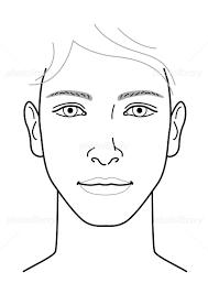 男性 顔 正面 イラスト イラスト素材 5275359 フォトライブラリー