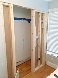 framing and electrical done for small powder room addition
