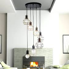 multi pendant chandelier office personality combination lamp rural double staircase retro multi pendant light creative restaurant multi pendant chandelier