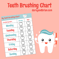 Teeth Cleaning Chart Free How To Brush Your Teeth For Children With Free Chart To