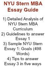 reasons to write mba application optional essay nyu stern · mba essay
