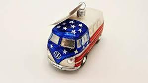 Hanco Glaskunst Design Christbaumschmuck Vw Bus Usa 228404