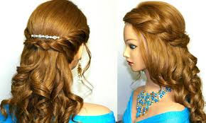 Prom Hairstyles For Thick Hair Formal Hairstyle For Thick Hair Curly Romantic Prom Hairstyle For