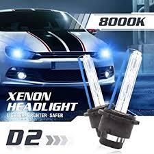 2x <b>8000K</b> Ice <b>Blue D2S D2R</b> Xenon HID Headlight Replacement Hi ...