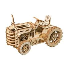 robotime 3d puzzle tractor tractor tractor wooden wooden laser cut gear craft kit diy kids toy 398e46