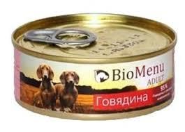 Корм для собак <b>BioMenu Adult консервы</b> для собак с говядиной ...