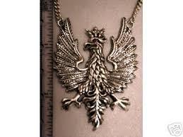 polish eagle pendant sterling silver