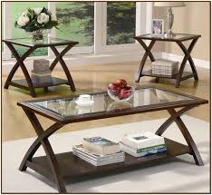 Captivating Glass Top Coffee Table Set Nice Design