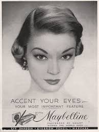 important feature in the 1950s maybelline introduced liquid eye liner the exotic