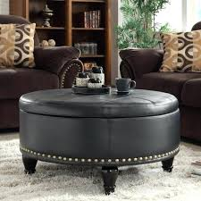 leather tufted ottoman round storage coffee table square sofa large size of padded upholstered blue footstool