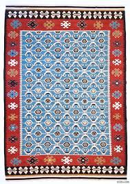 light blue new turkish kilim area rug