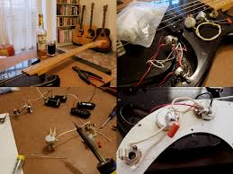 made in page  it was pretty straight forward to change the electronics i checked the seymour duncan s wiring diagram for p basses and followed that instead of the old