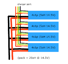 the lipo 4s1p pack wiring plan the electric chronicles power in all the balance tabs and all the main leads from the individual packs note you must make sure all the packs are fully charged