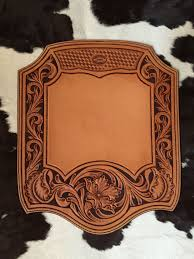 custom made leather mouse pad hand tooled