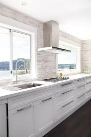 Fine Modern White Kitchen Ideas Backsplash Tile Cabinets Reno Design Intended Simple
